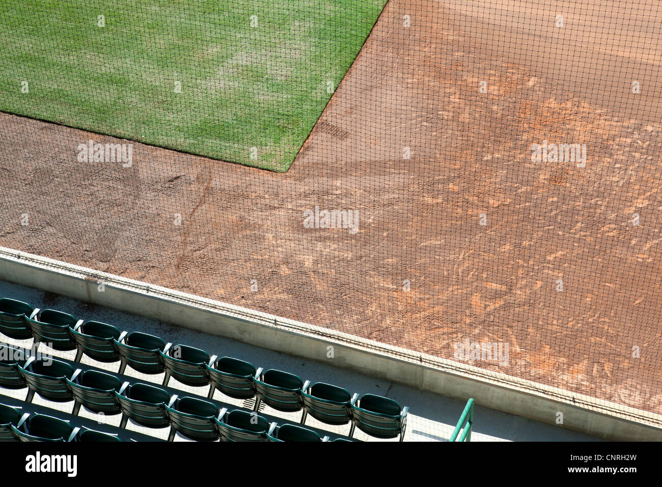 Sports field, overhead view - Stock Image