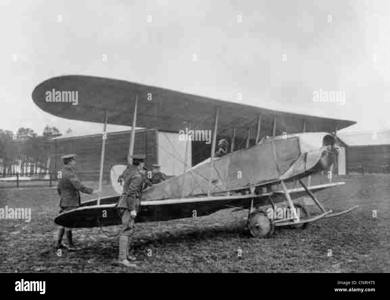 Royal Aircraft Factory B.E.4 at the Central Flying School, Upavon, 1913. Stock Photo