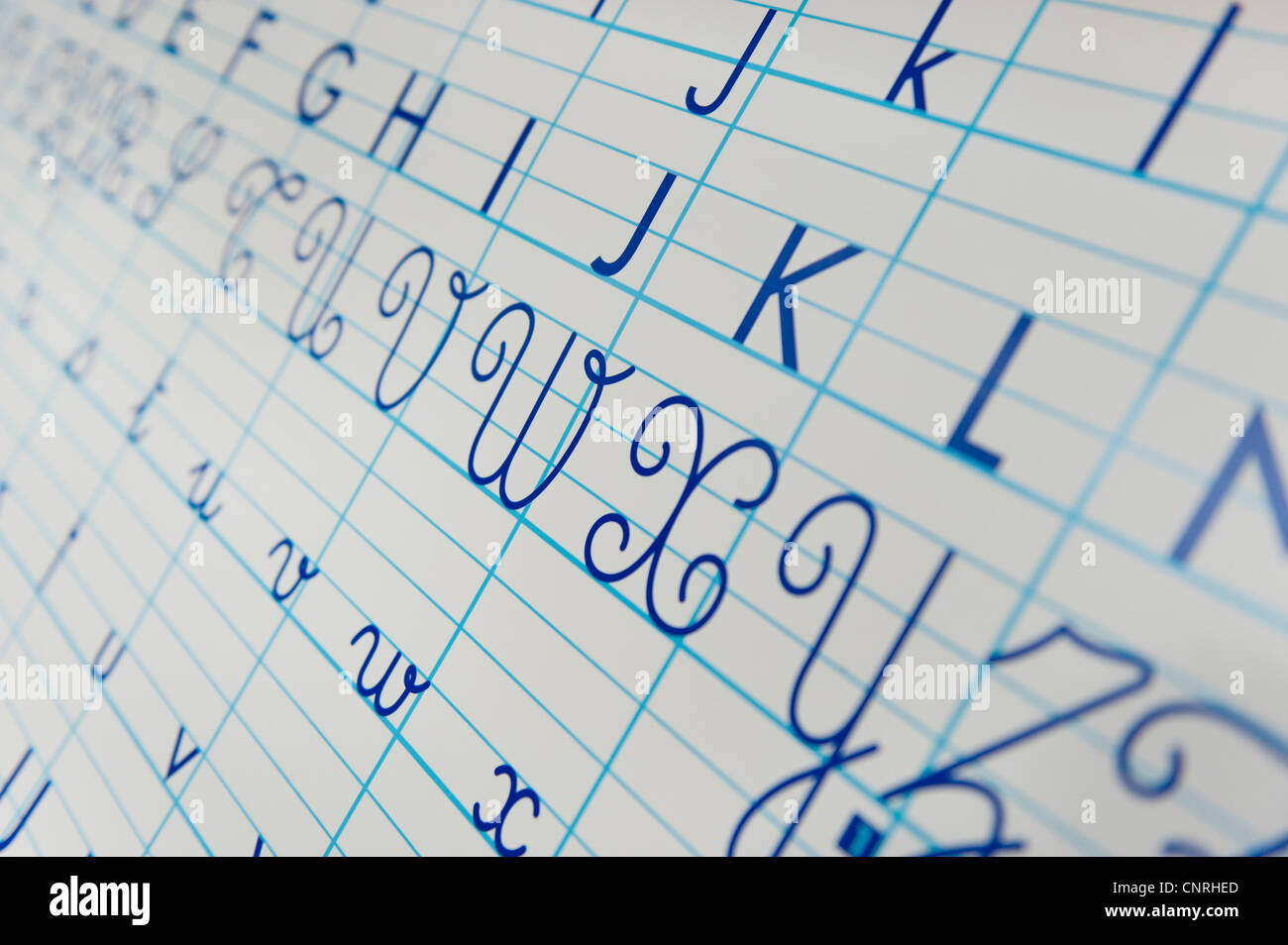 Alphabet letters, cropped - Stock Image