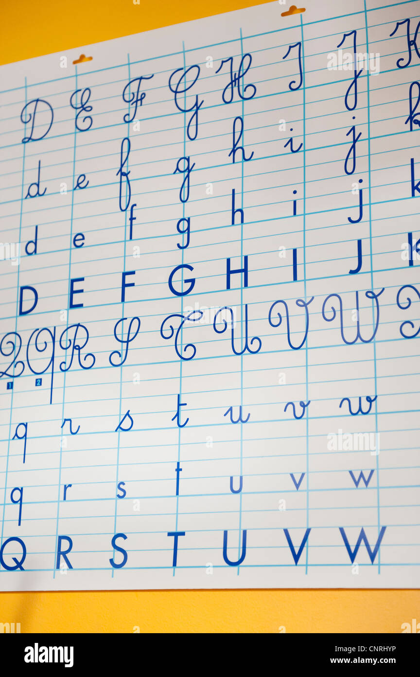 Alphabet letters - Stock Image