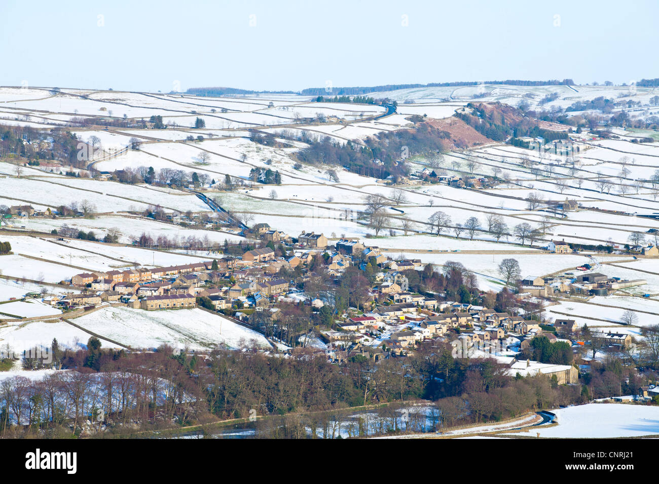 Winter view over Glasshouses, North Yorkshire. - Stock Image