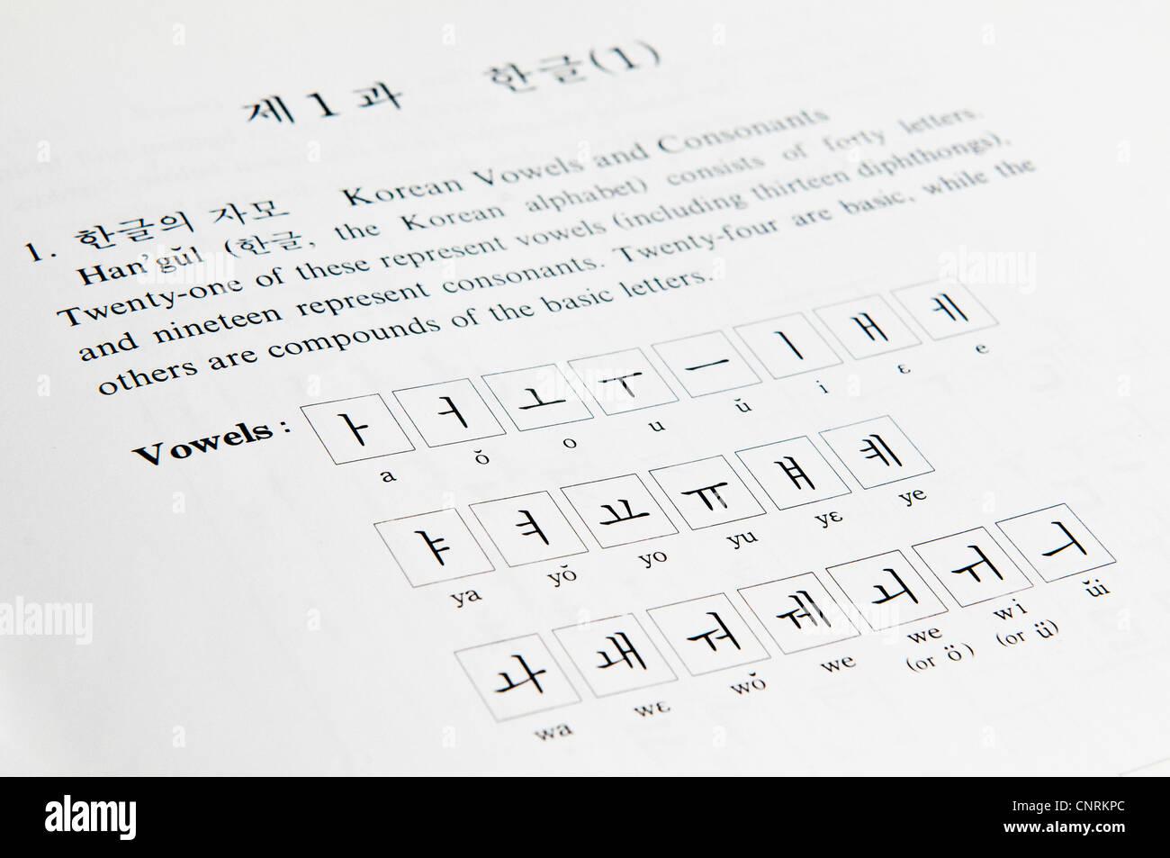 Hangul Script Stock Photos Hangul Script Stock Images Alamy