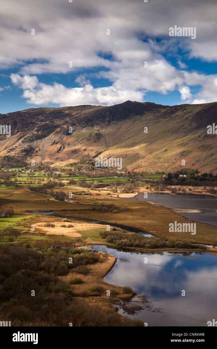 View of Derwentwater, Catbells and Borrowdale from Surprise View, Lake District Nationasl Park, Cumbria - Stock Image