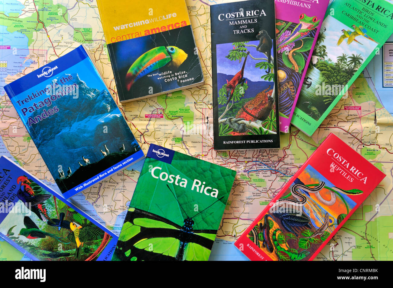 Road Map And Assortment Of Travel Guides  Guidebooks And