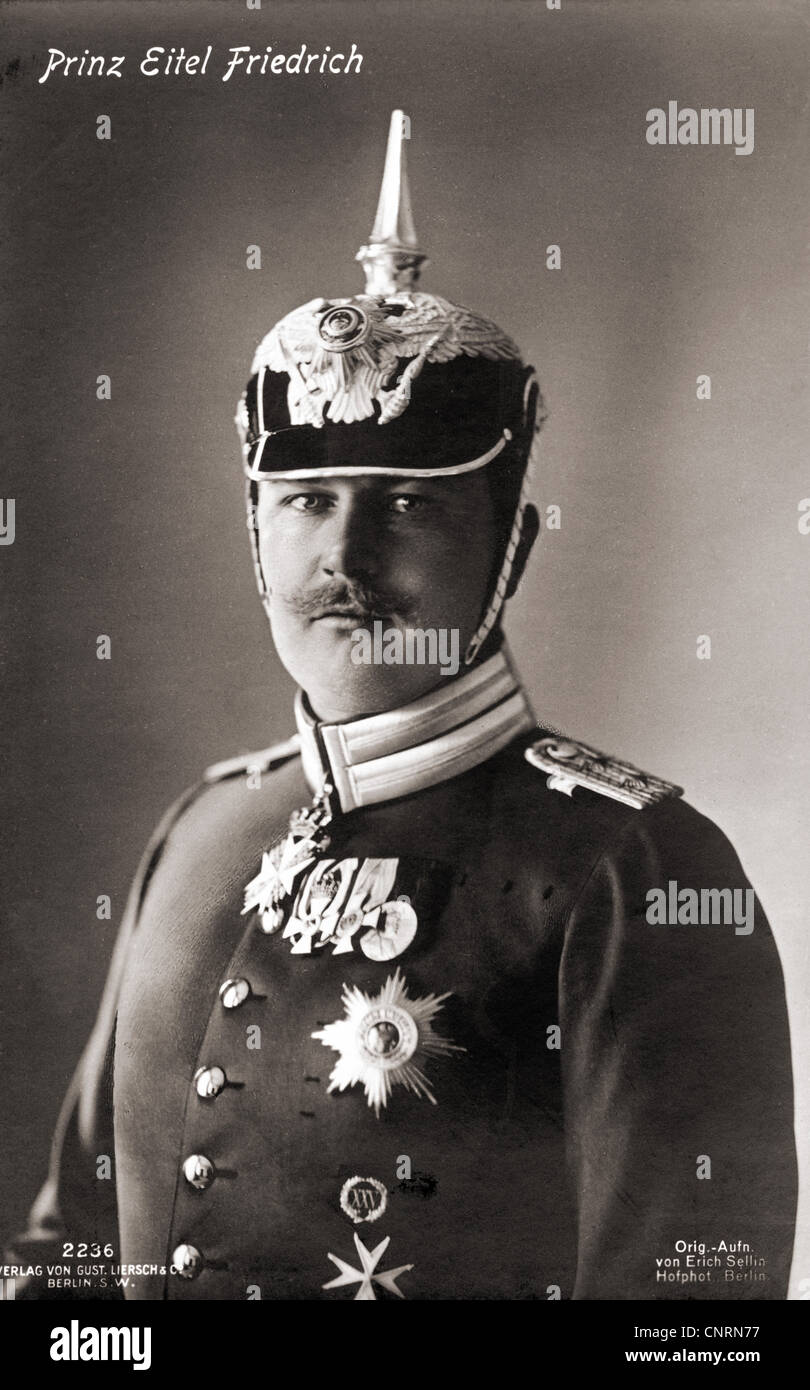 Eitel Friedrich, 7.7.1883 - 8.12.1942, Prince of Prussia, Prussian general, captain in the Prussian 1st Regiment - Stock Image
