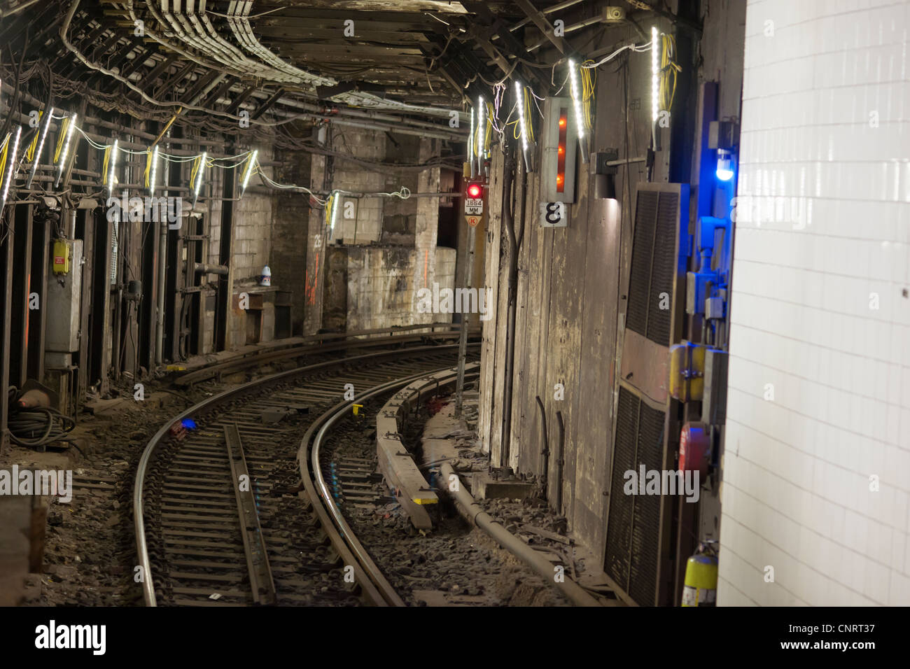 A Subway Tunnel At Grand Central Station In New York Is