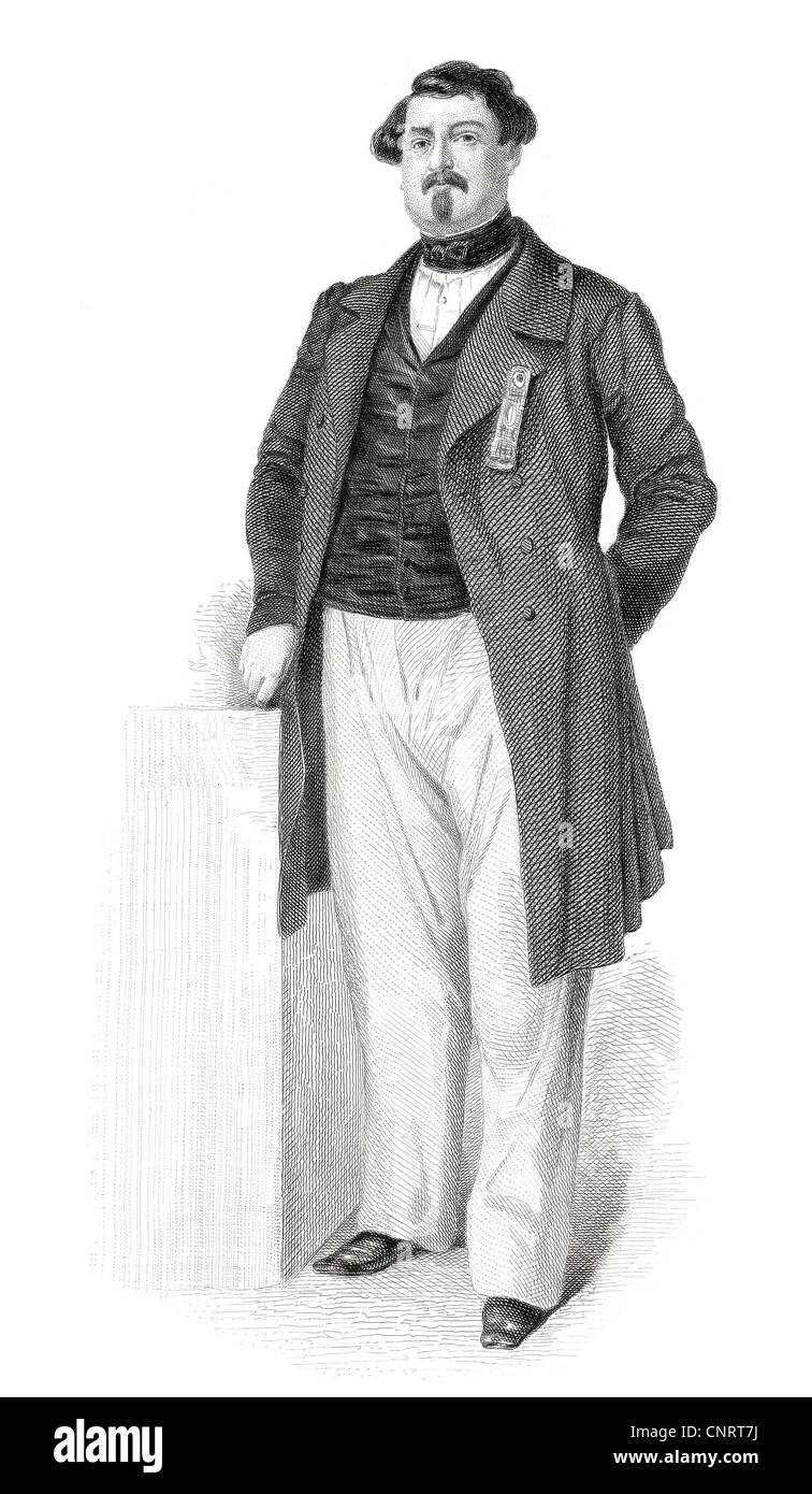 French politician Senator Napoléon Charles Lucien Murat, 1803 - 1878 member of the French National Assembly, - Stock Image