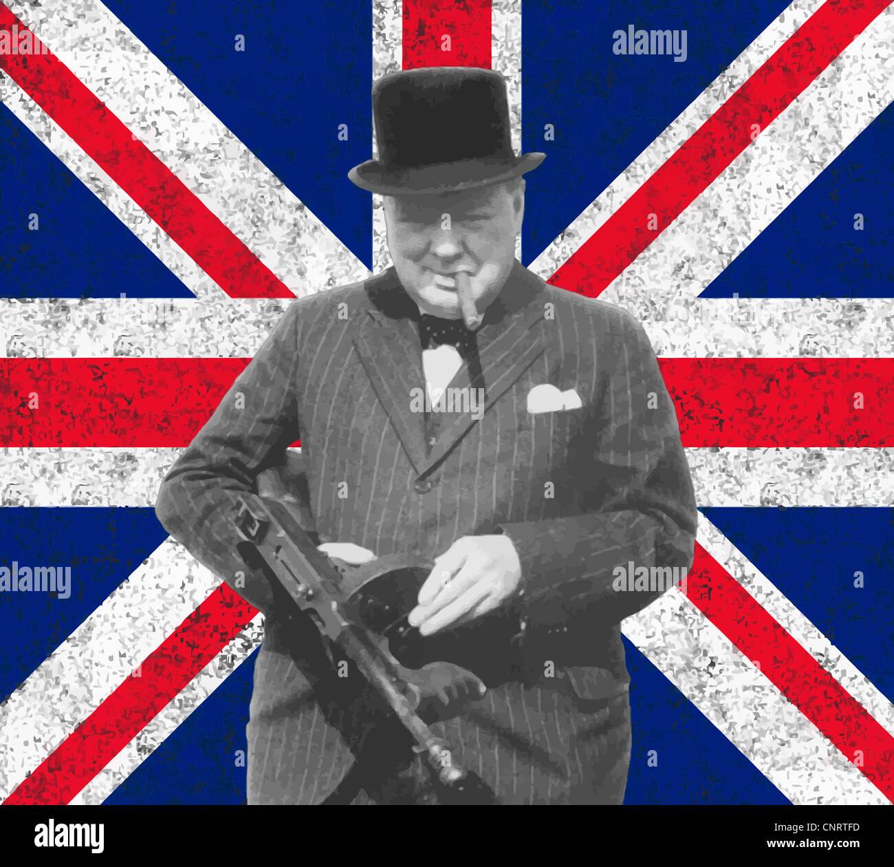 Winston Churchill Portrait Stock Photos & Winston Churchill