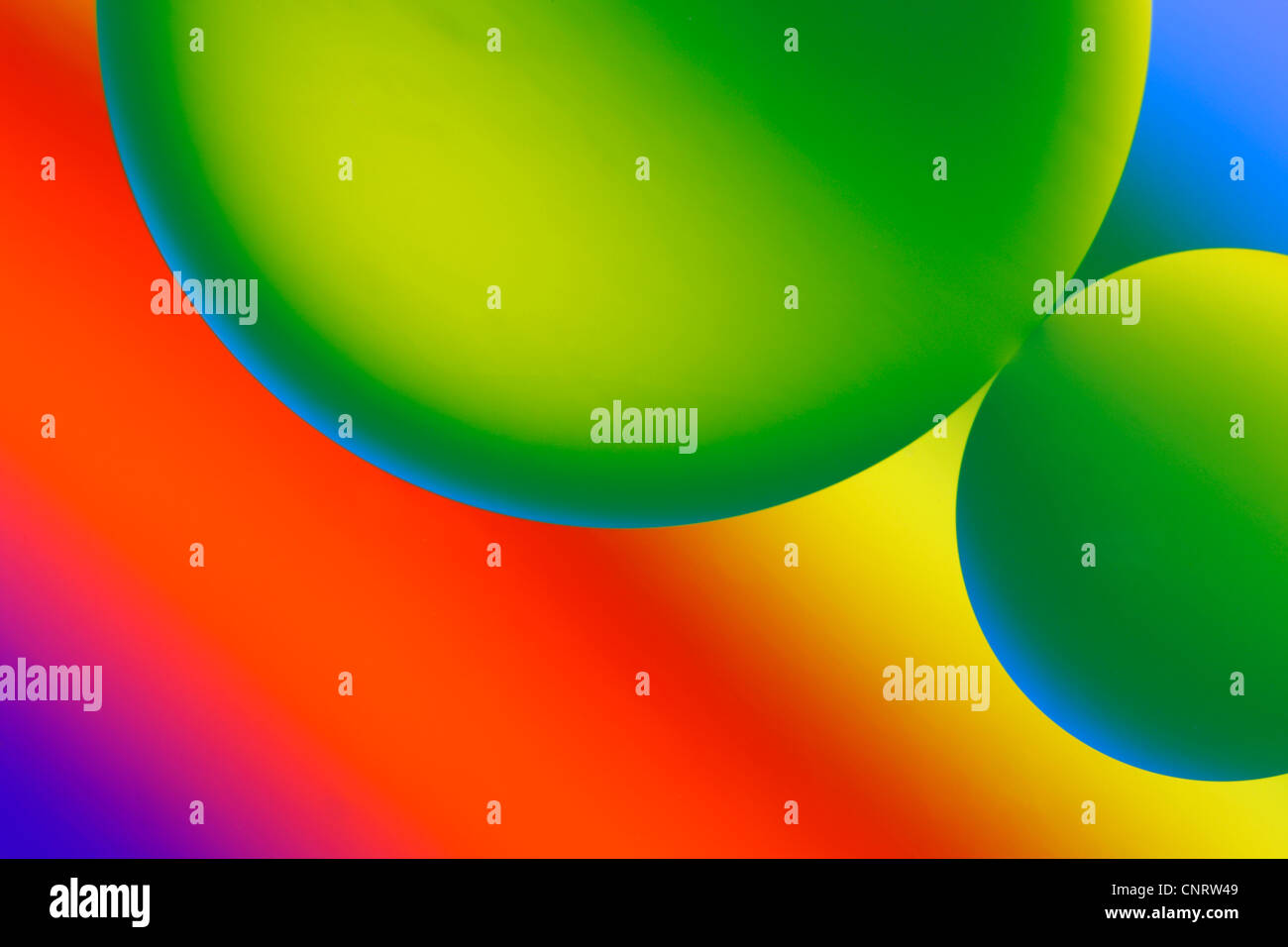 Oil bubbles abtract image. - Stock Image
