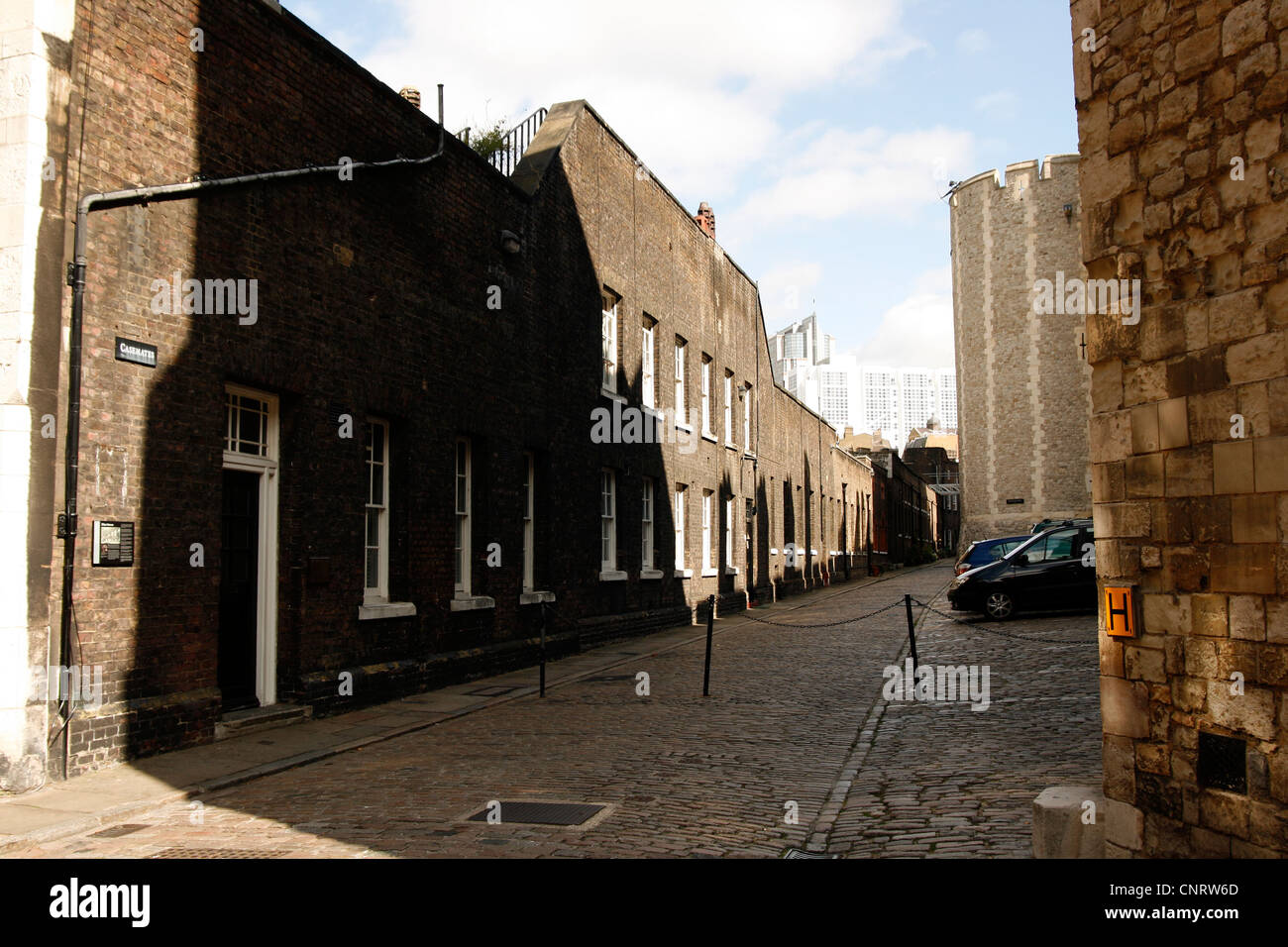 Tower of London - casemates - Stock Image