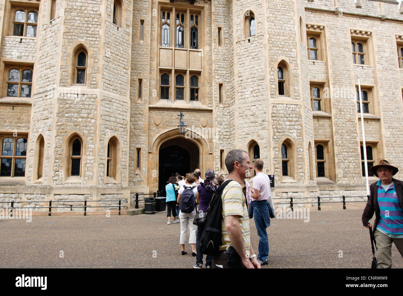 Tower of London - Jewel House - home of the Crown Jewels - Stock Image