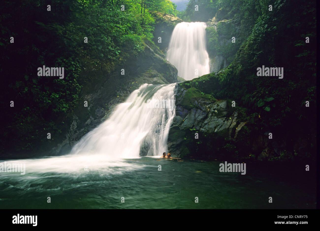 Unbelievable Falls, Pico Bonito National Park. - Stock Image