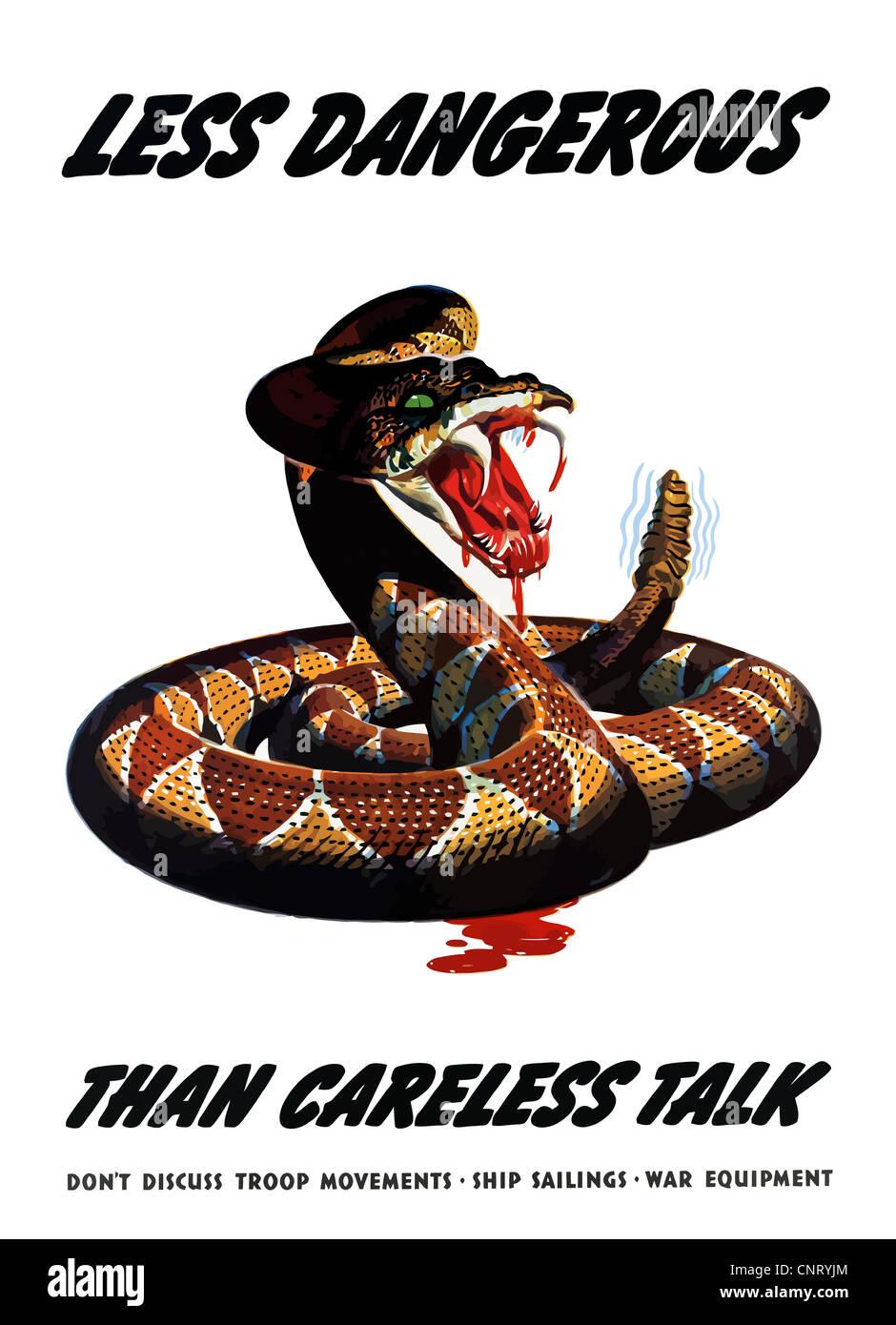 Digitally restored propaganda war poster. - Stock Image