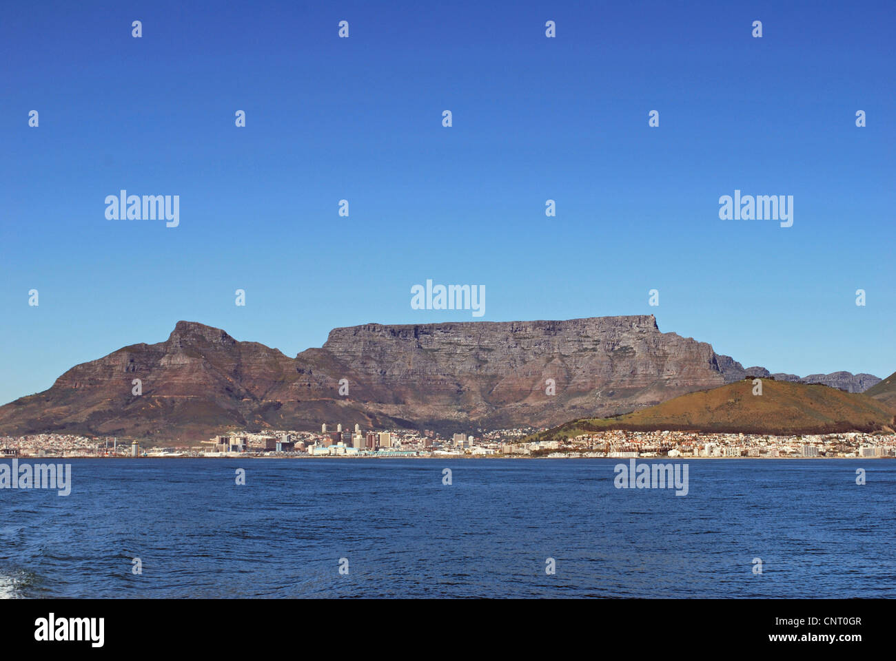 view onto cape town with Table Mountain, South Africa, Capetown - Stock Image