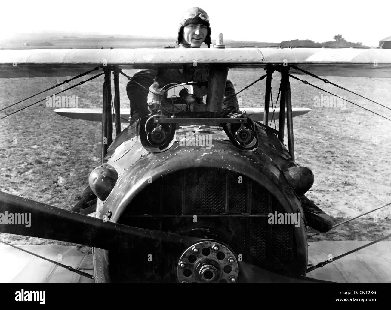 Digitally restored vector photograph of World War I Fighter Ace and Medal of Honor Recipient, Eddie Rickenbacker Stock Photo