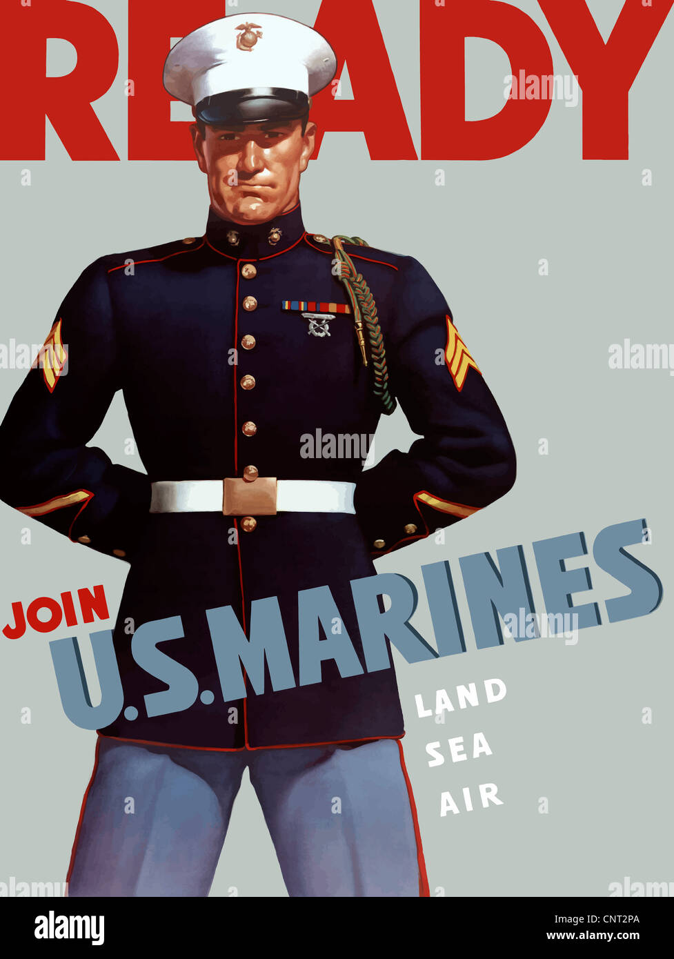 this marine corps recruiting poster from world war ii features a