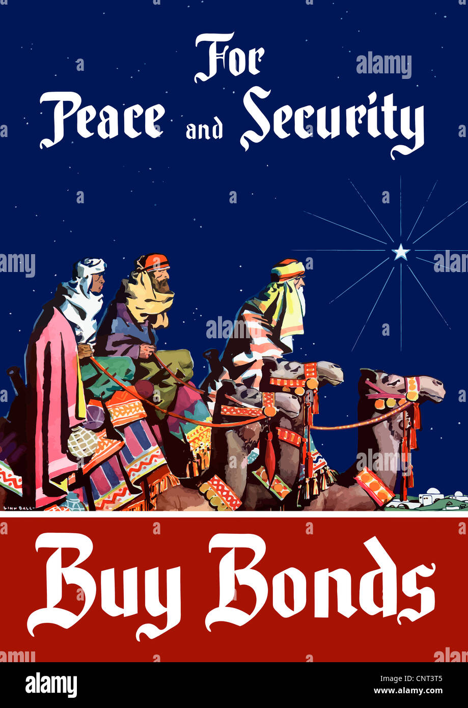 Ww2 Christmas Day.Vintage World War Ii Poster Featuring The Three Wise Men
