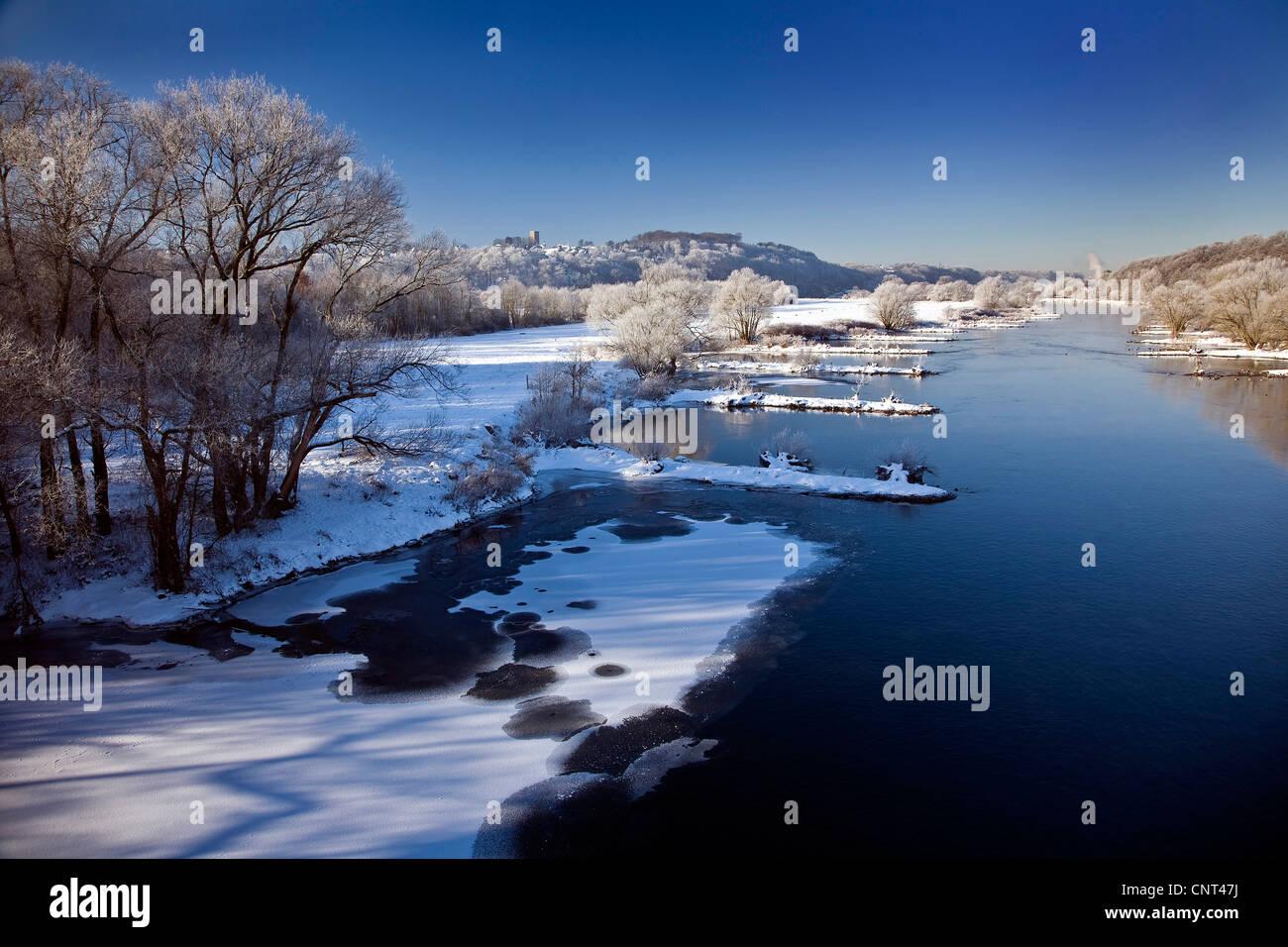 Ruhr valley in winter , Germany, North Rhine-Westphalia, Ruhr Area, Hattingen - Stock Image