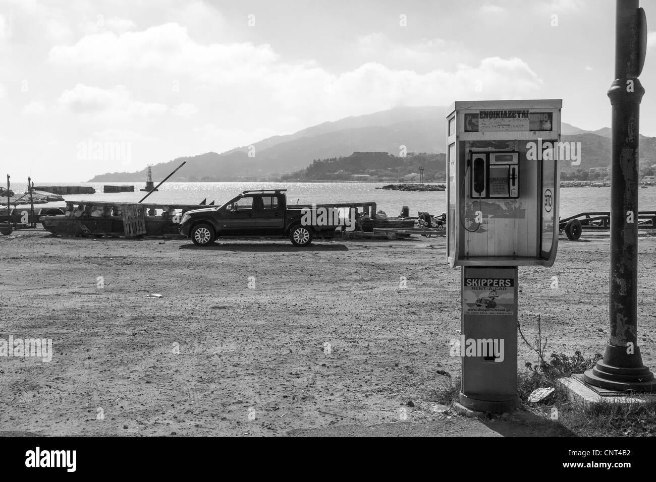 Port at Zakynthos town - Stock Image