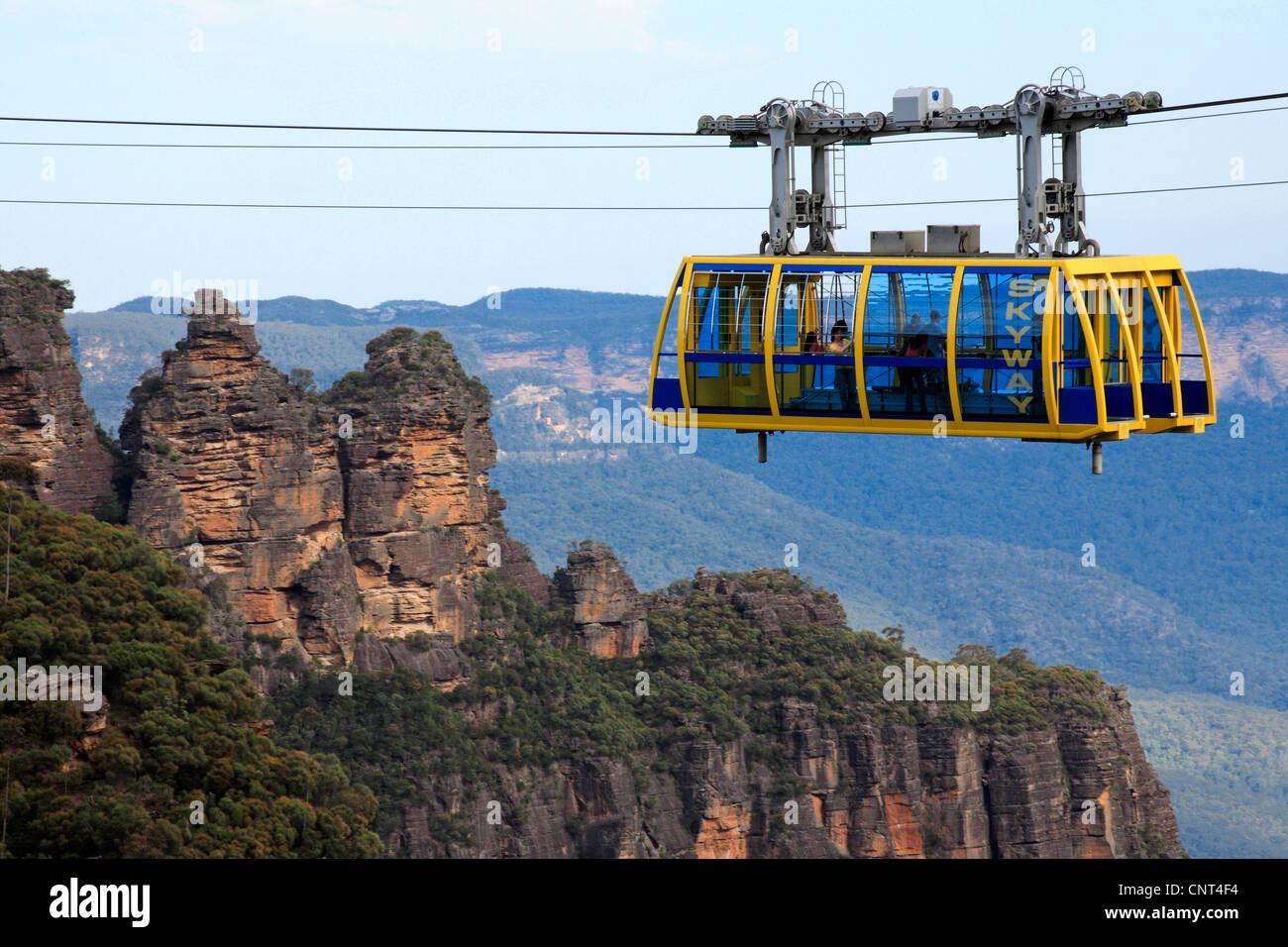 gondola cableway, Australia, New South Wales - Stock Image