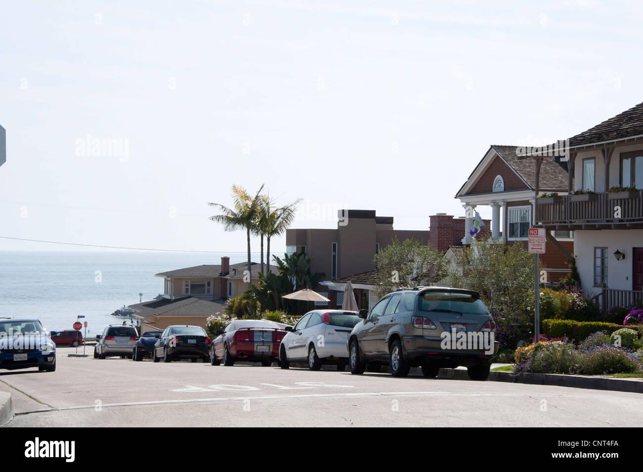California street view on the beach - Stock Image