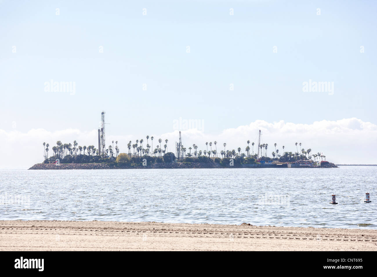Long Beach California THUMS Island Chaffee, offshore oil