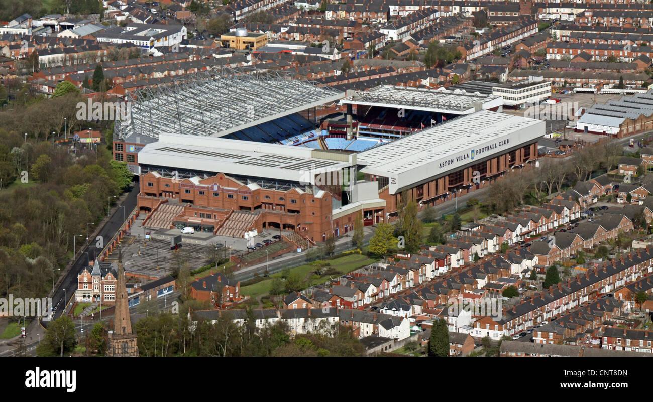 aerial view of Aston Villa's Villa Park Football Stadium - Stock Image