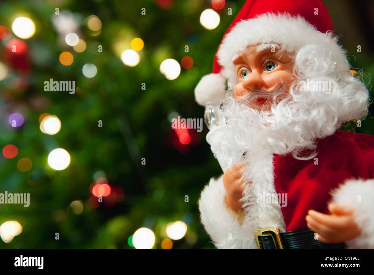 Santa Claus Christmas decoration - Stock Image