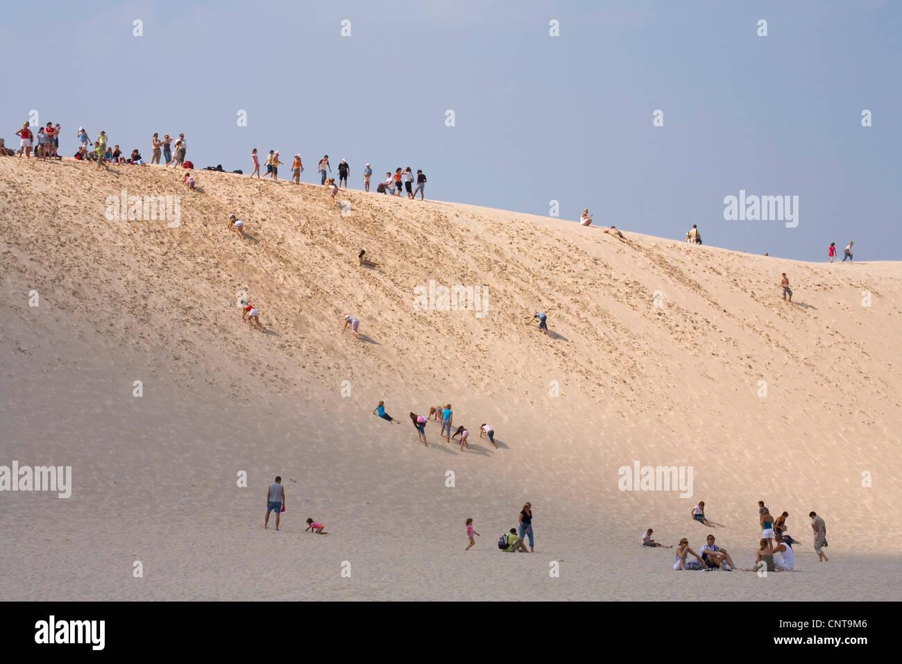 shifting sand dune, Poland, Slowinski National Park Stock Photo