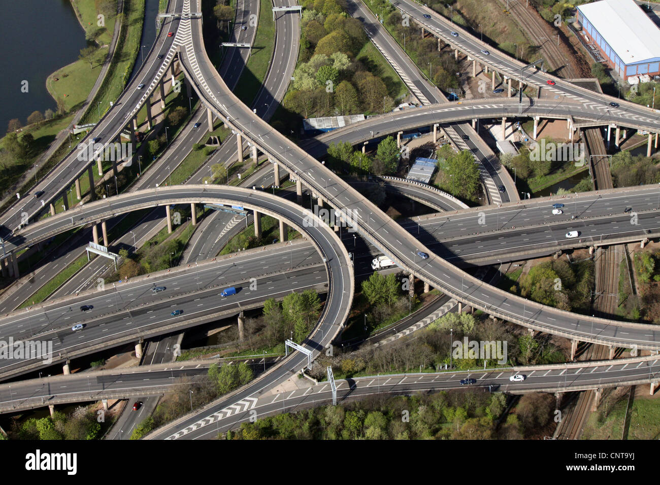 aerial view of Spaghetti Junction, Graveley Hill, Birmingham - Stock Image