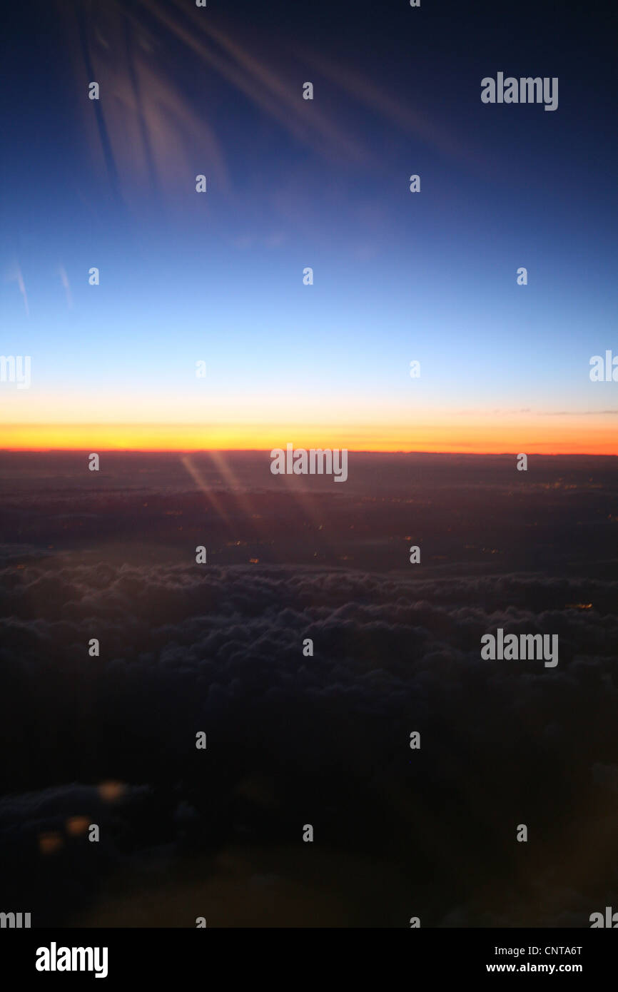 Sunrise From Plane Window High Resolution Stock Photography And