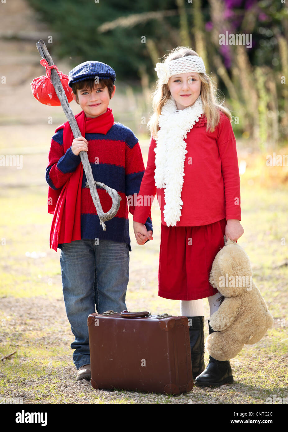 concept for children going on vacation holiday or summer camp - Stock Image
