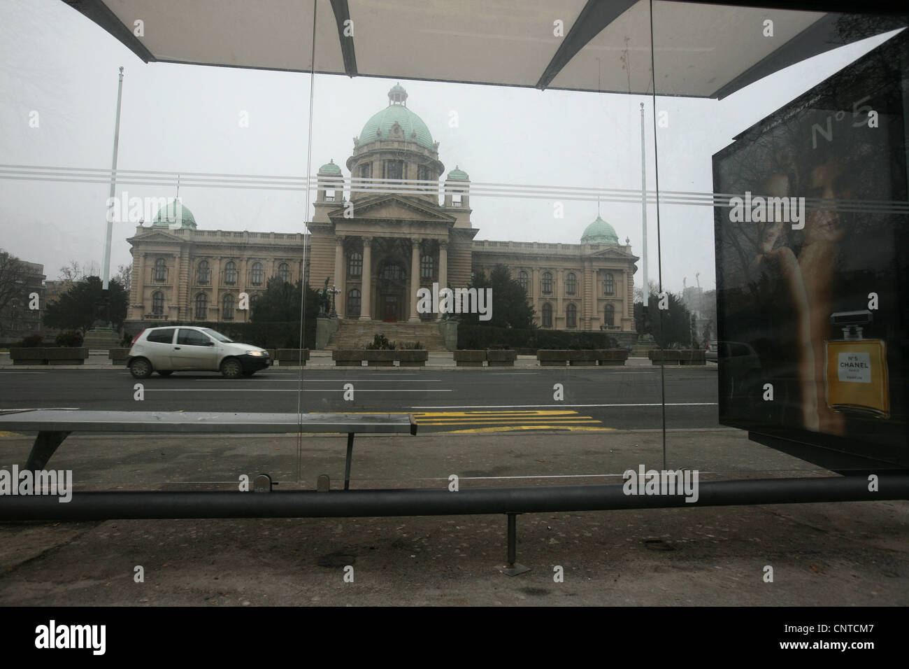 The House of the National Assembly of Serbia in Belgrade, Serbia - Stock Image