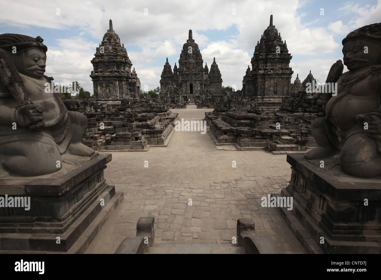 Candi Sewu Buddhist Temple next to Prambanan Temple near Yogyakarta, Central Java, Indonesia. Stock Photo