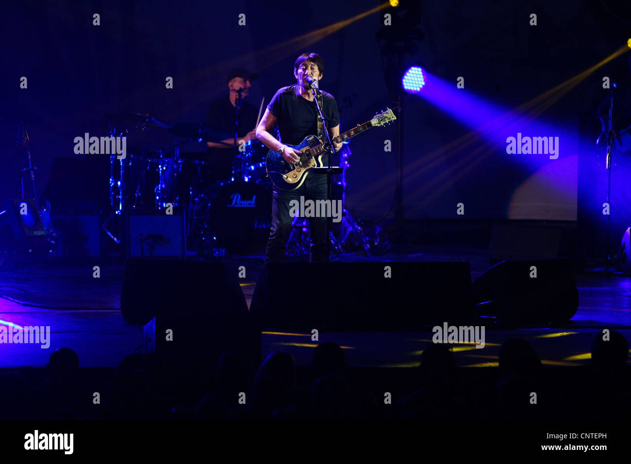 British singer and guitarist, Chris Rea performs at Hammersmith Apollo in London, 05 April 2012. - Stock Image