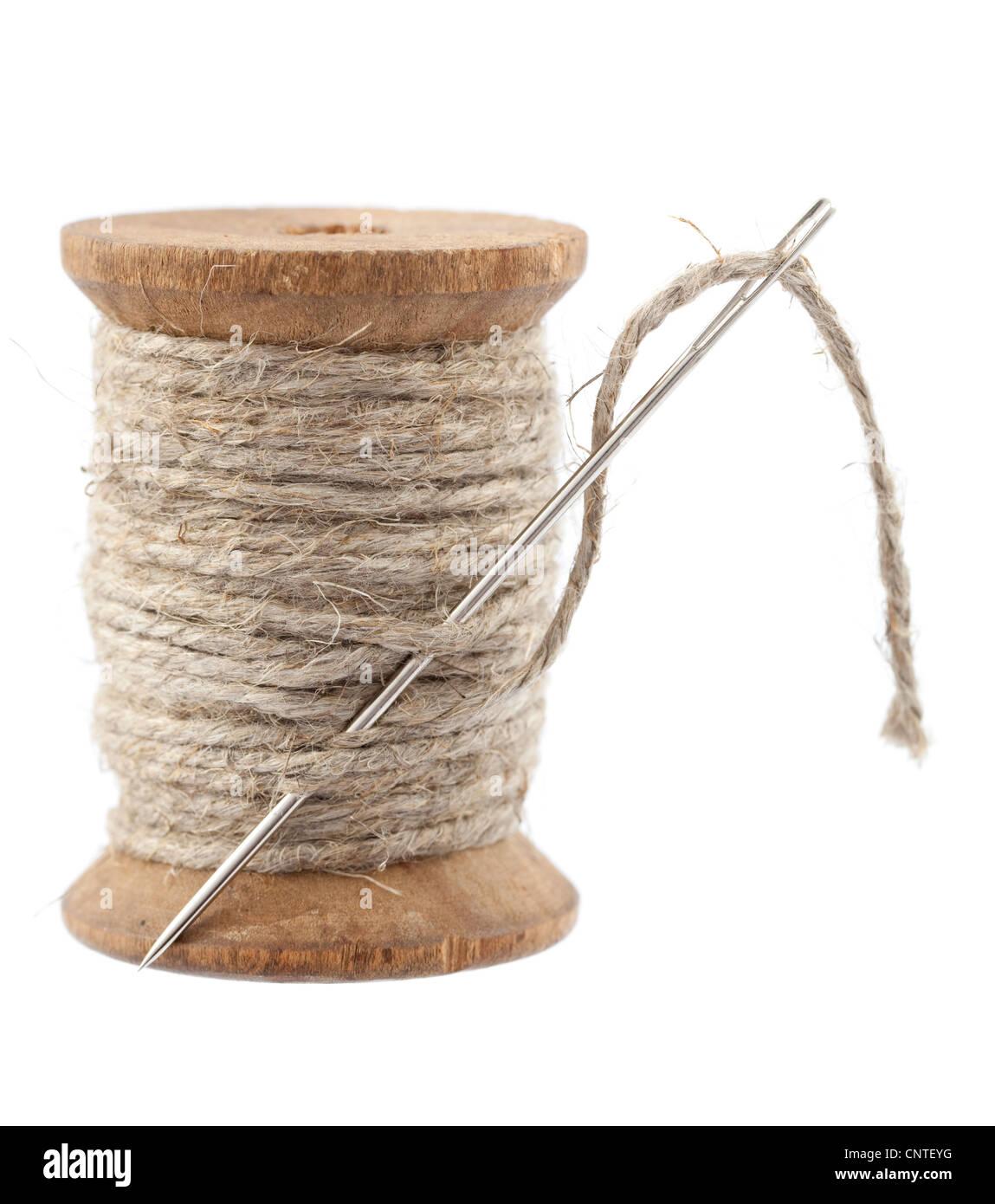 rope yarn on spool with big needle stock photo 47867108 alamy