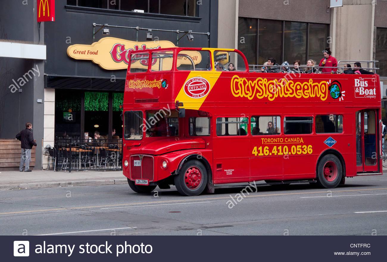 toronto tour bus stock photos toronto tour bus stock. Black Bedroom Furniture Sets. Home Design Ideas
