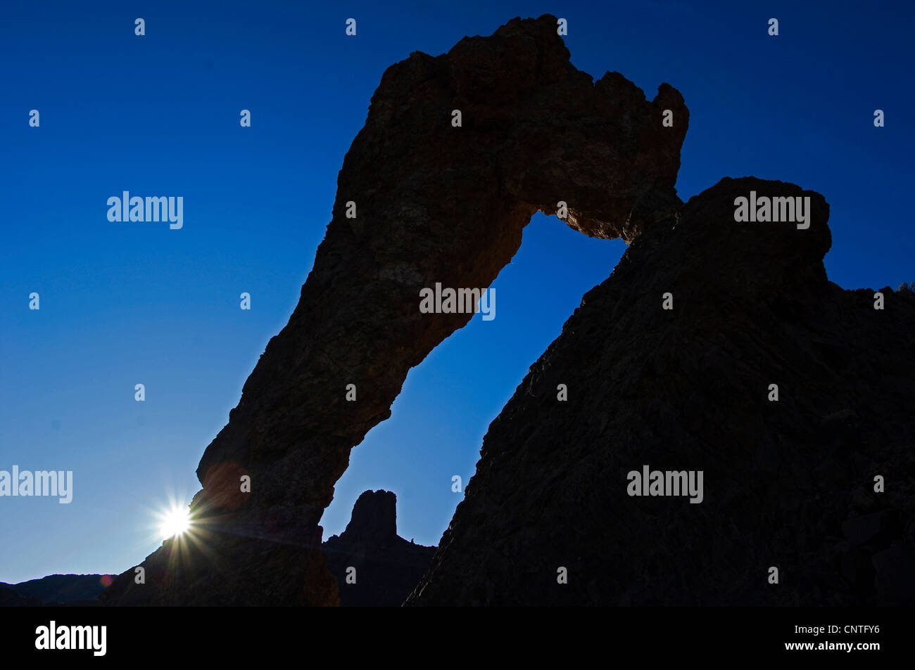rock formation ins teide national Park, Canary Islands, Tenerife, Teide National Park - Stock Image