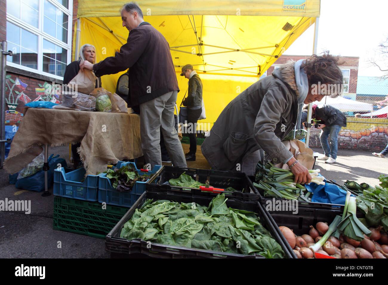 Queen's Park Farmers' Market - Stock Image