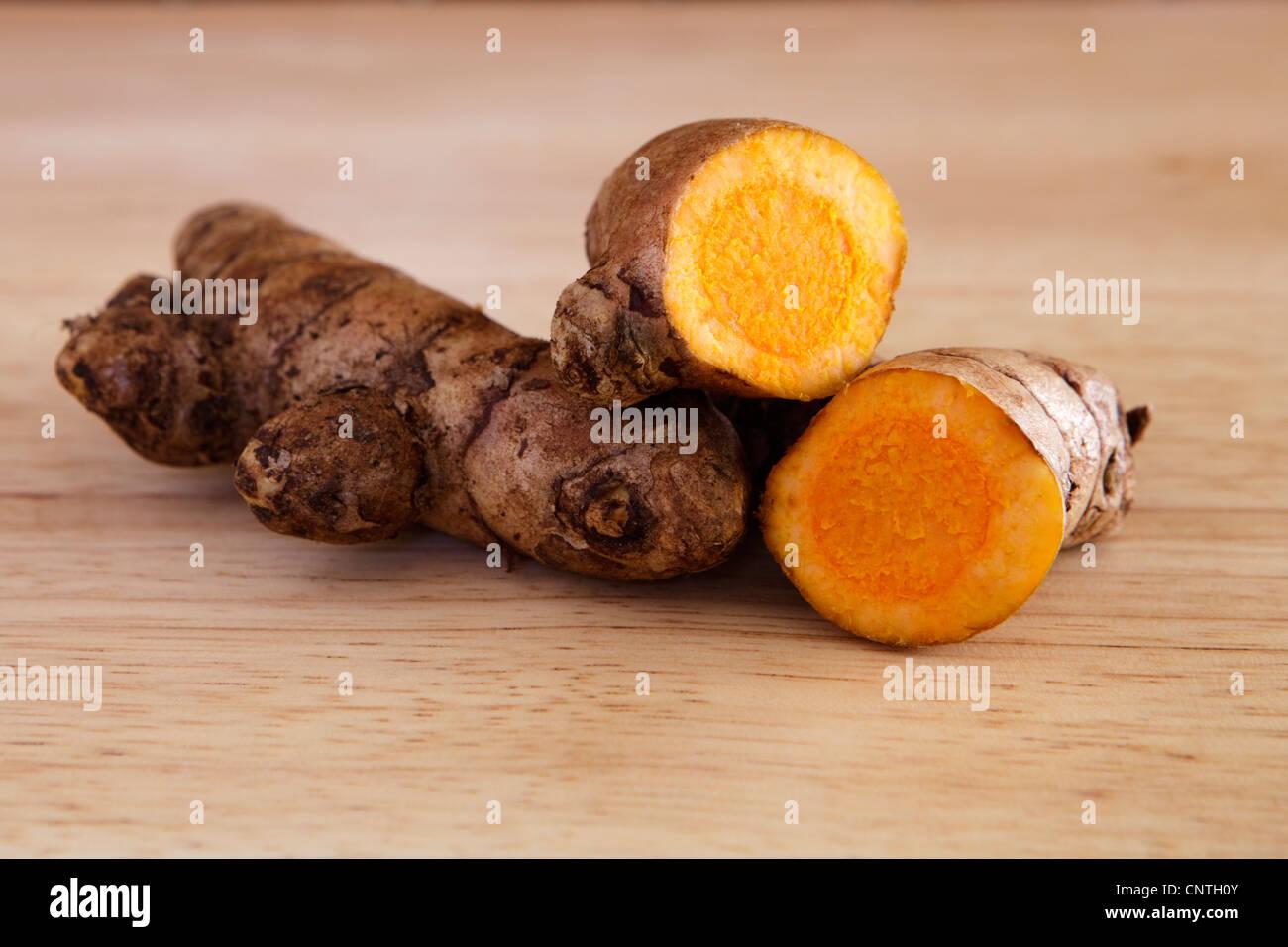 Fresh Turmeric Rhizome - Stock Image