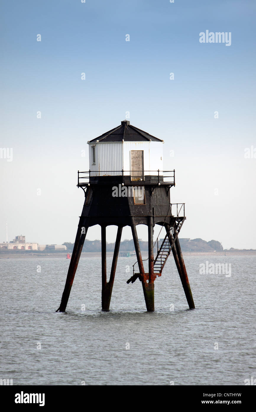 VICTORIAN LOWER LIGHTHOUSE AT DOVERCOURT ON THE EAST ESSEX COAST OF THE UK. - Stock Image