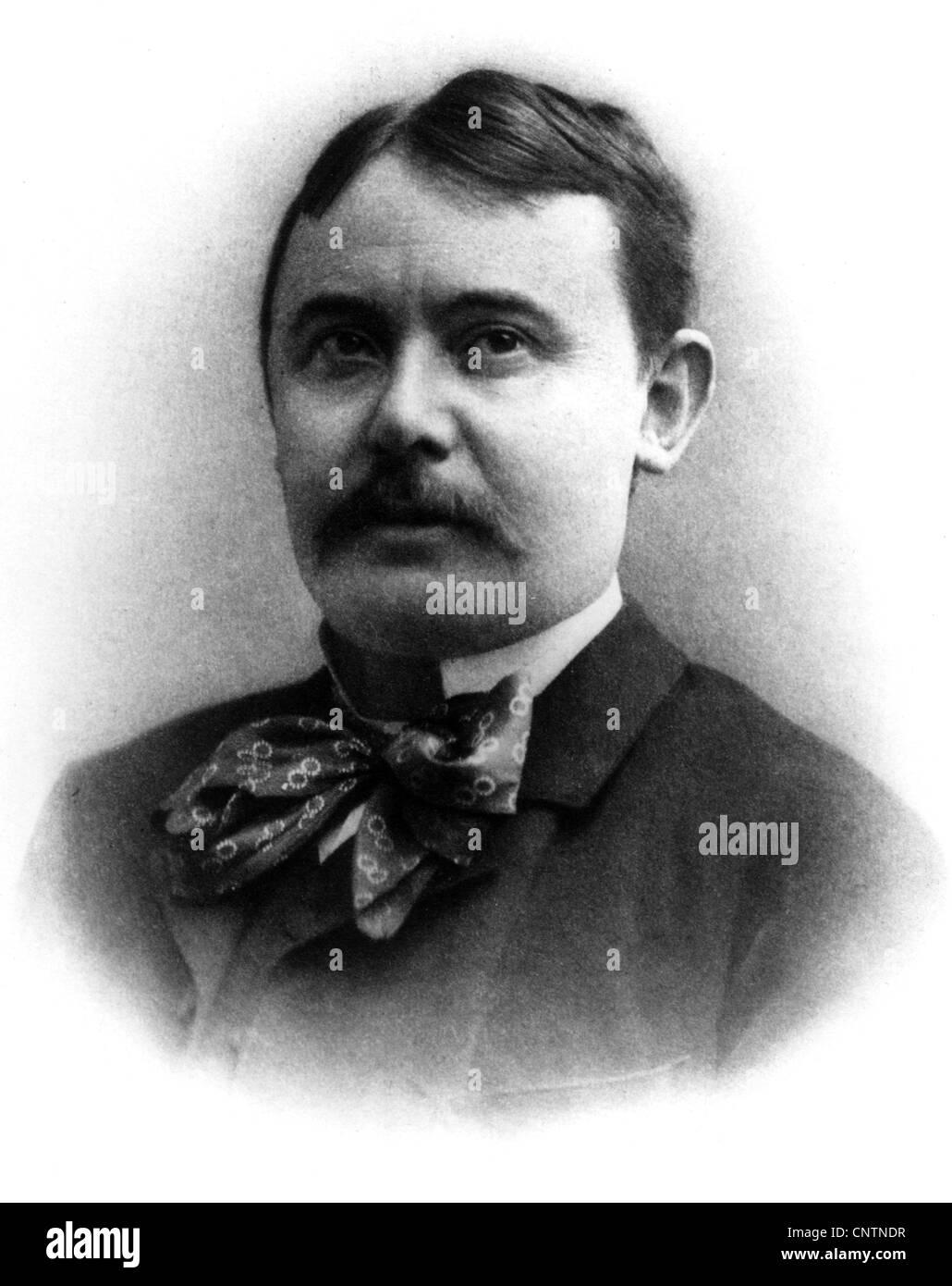 Mikszath, Kalman, 16.1.1847 - 28.5.1910, Hungarian author / writer, portrait, photograph, 1904, Additional-Rights - Stock Image