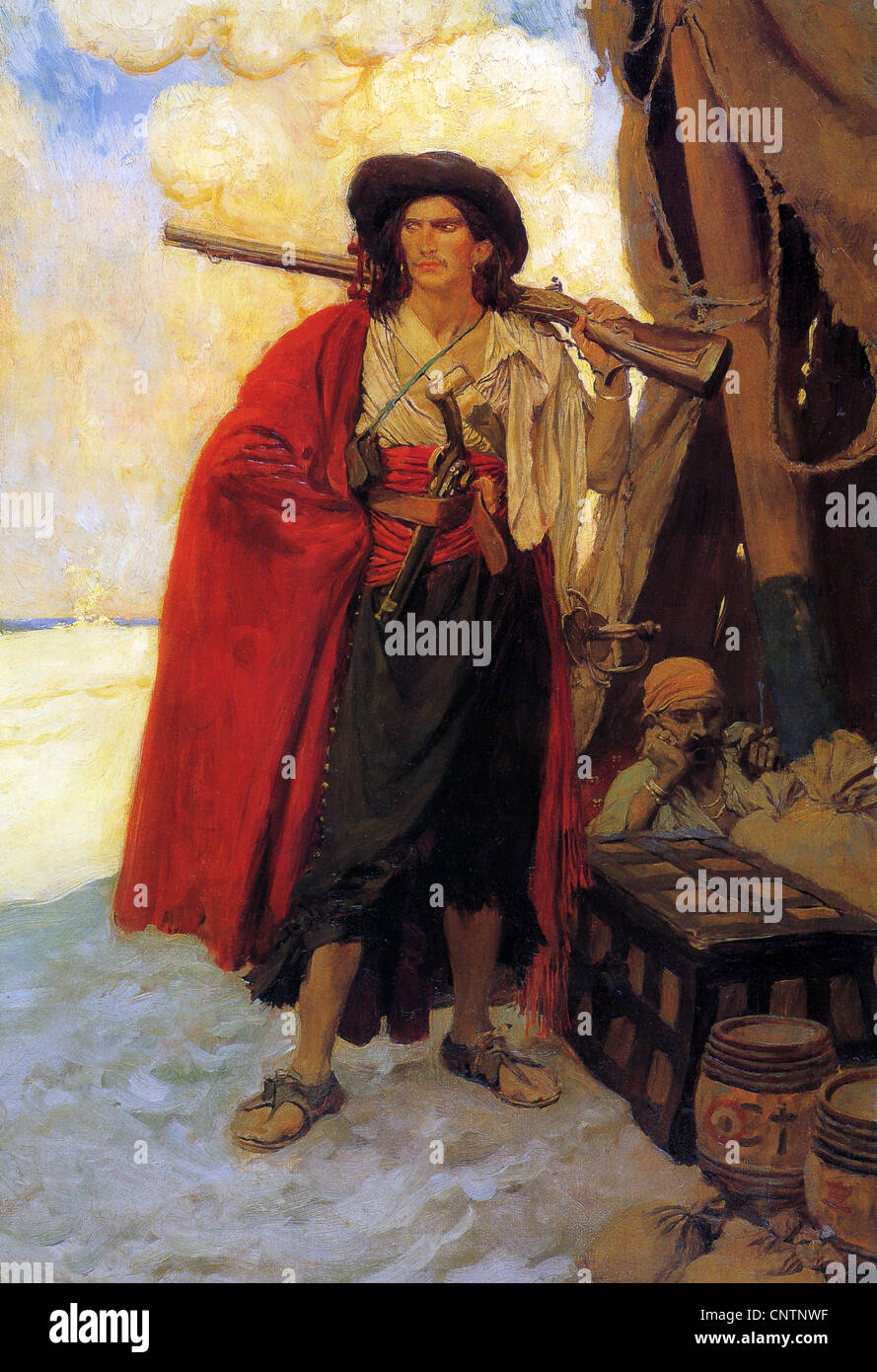 BUCANEERS as painted by American illustrator Howard Pyle (1853-1911) - Stock Image