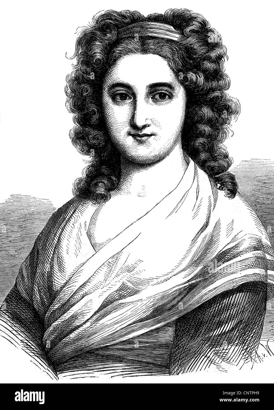 Henriette Julie Herz, 1764 - 1847, writer and one of Berlin's leading Salonni?ren of the early romantic, historical - Stock Image