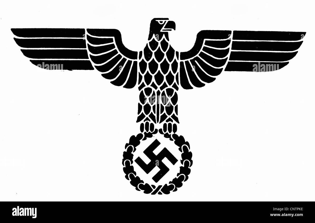 National Socialism / Nazism, emblems, Reichsadler (Eagle of the German Empire), national insignia of Nazi Germany, Stock Photo