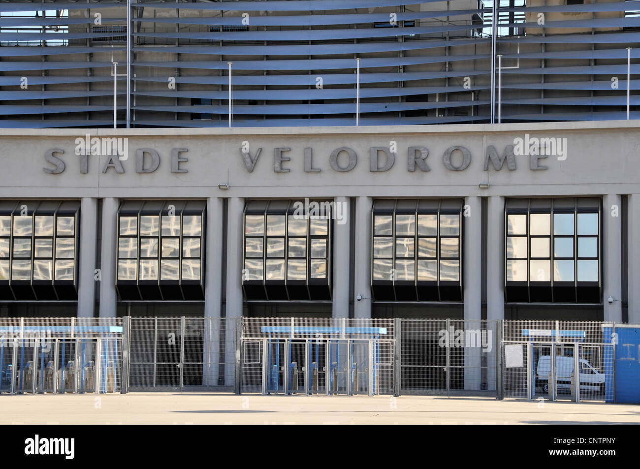 The Stade Vélodrome et le Musée de l'OM, home to football club Olympique de Marseillaise in Marseille,France. - Stock Image