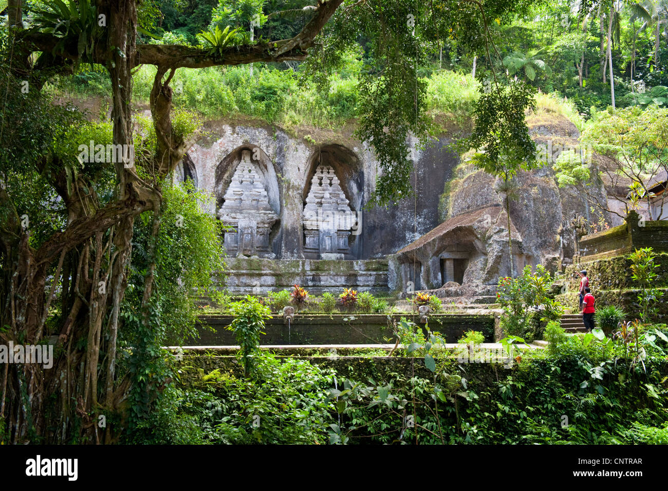 Gunung Kawi is an 11th century temple complex in Tampaksiring north east of Ubud in Bali, Indonesia. - Stock Image