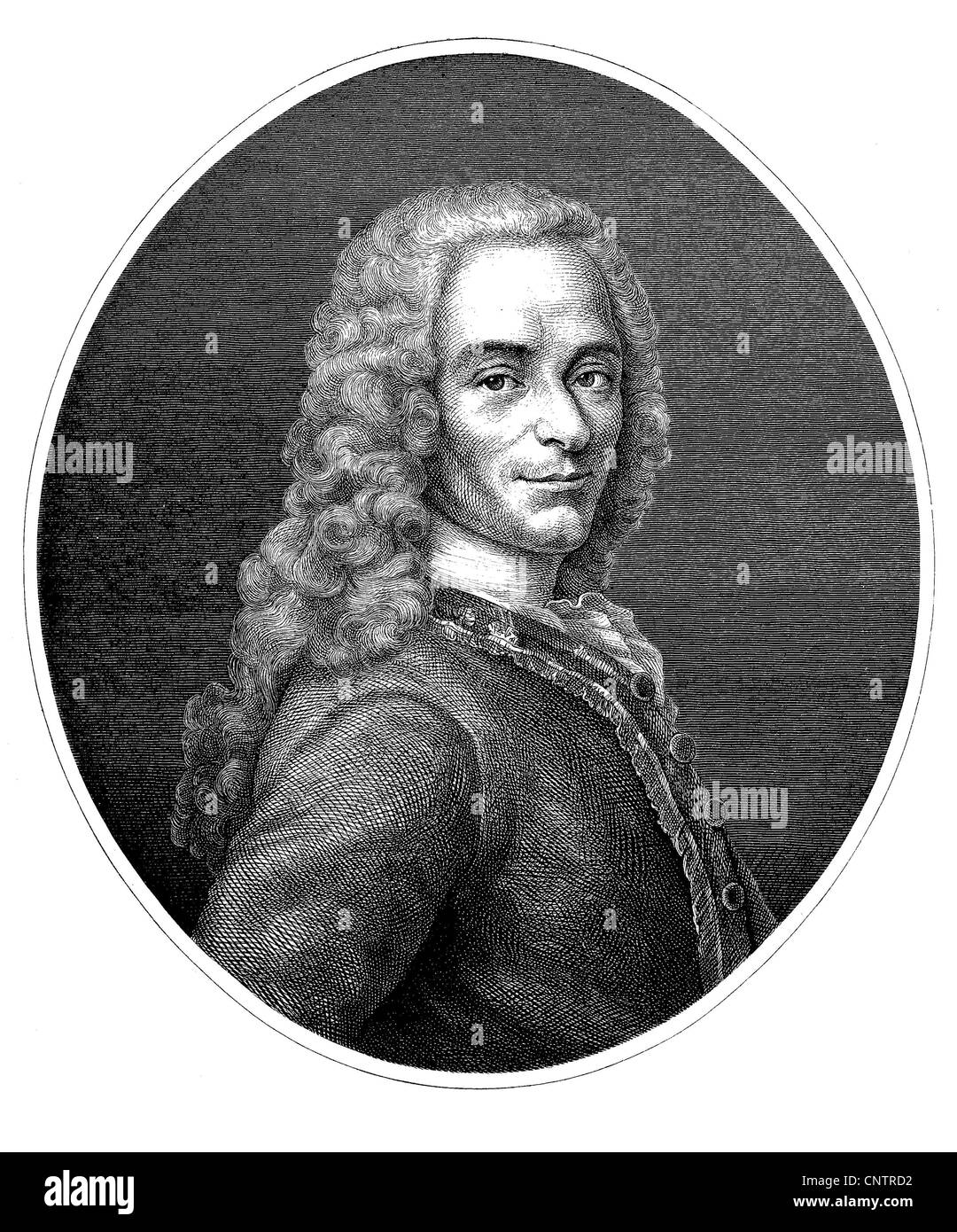 Voltaire, actually Francois Marie Arouet, 1694-1778, author of French and  European Enlightenment, historical engraving, circa 18