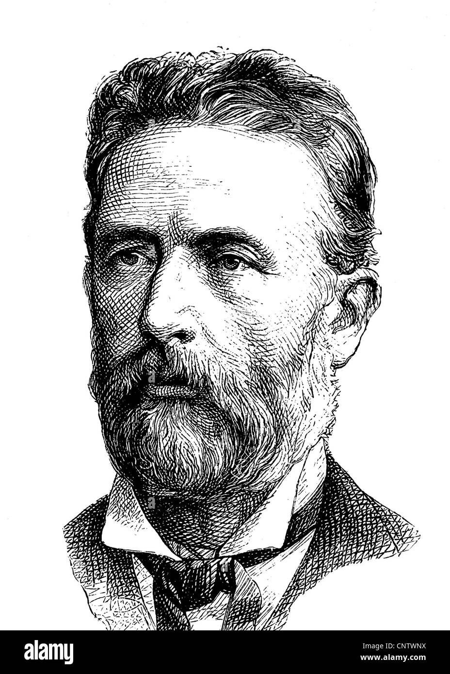 Philipp Wilhelm Adolf Bastian, 1826-1905, a German anthropologist and founding director of the Museum of Ethnology - Stock Image