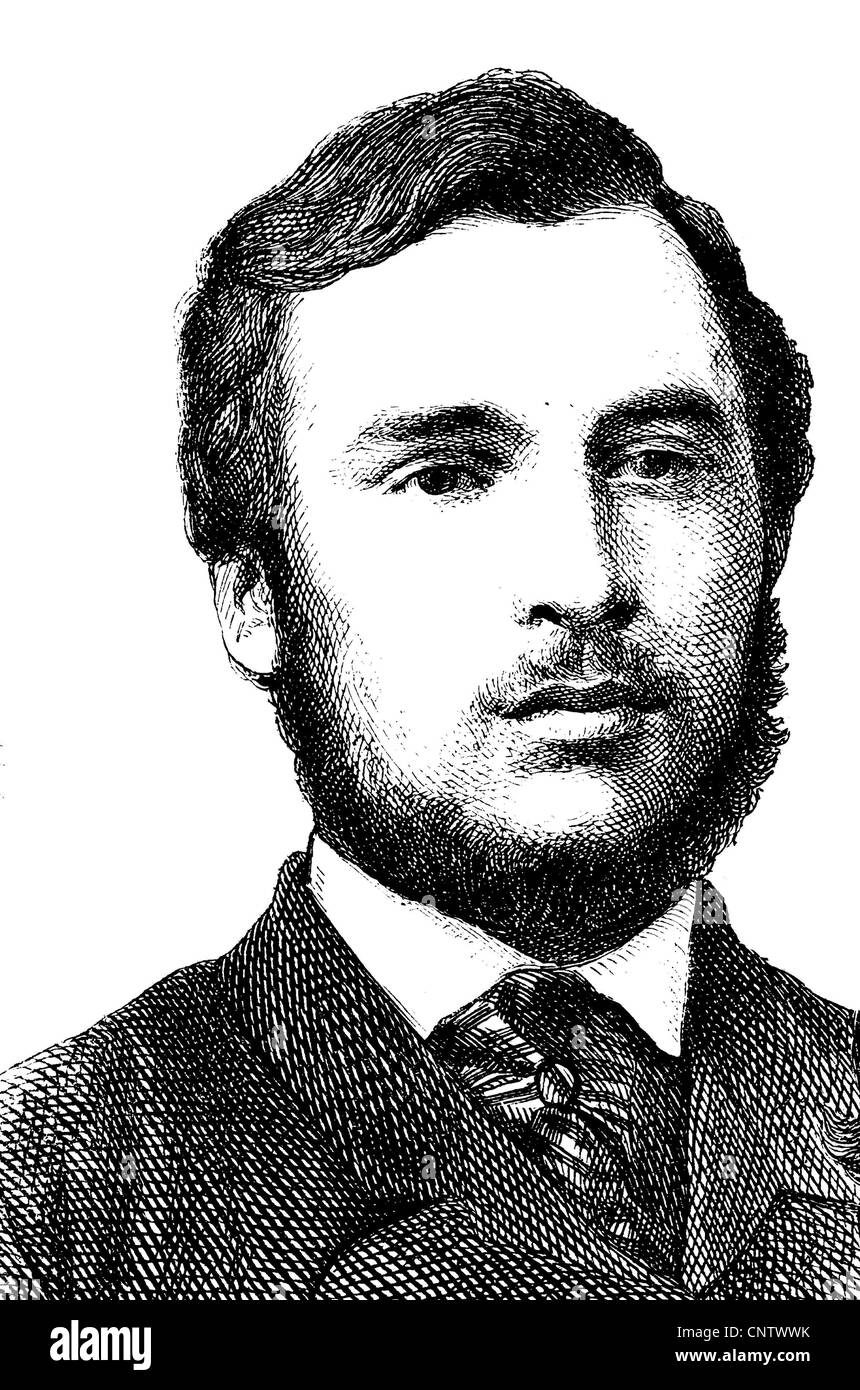 Ricciotti Garibaldi, 1847-1924, Italian freedom fighter, son of Giuseppe Garibaldi and Anita Garibaldi, historical - Stock Image
